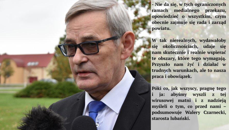 Walery Czarnecki, starosta lubański